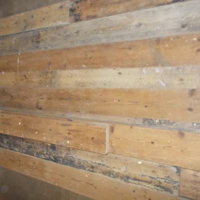 Job Lot Reclaimed Straight Edge Rustic Victorian Floor Boarding Pine